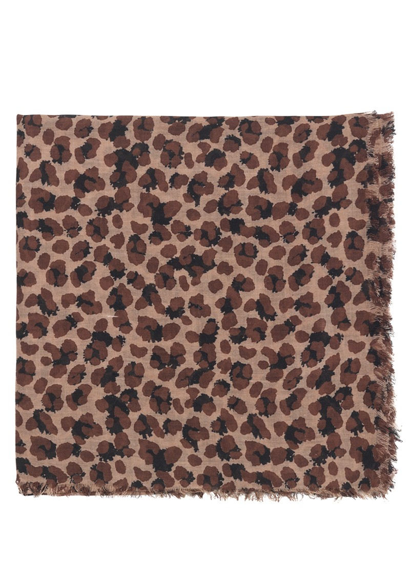 Becksondergaard Linora Cotton Mix Scarf - Brownish main image