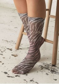 Becksondergaard Dagmar Zebra Socks - Off White