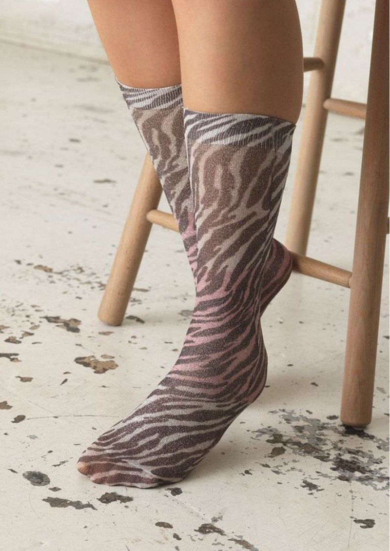 Dagmar Zebra Socks - Off White main image