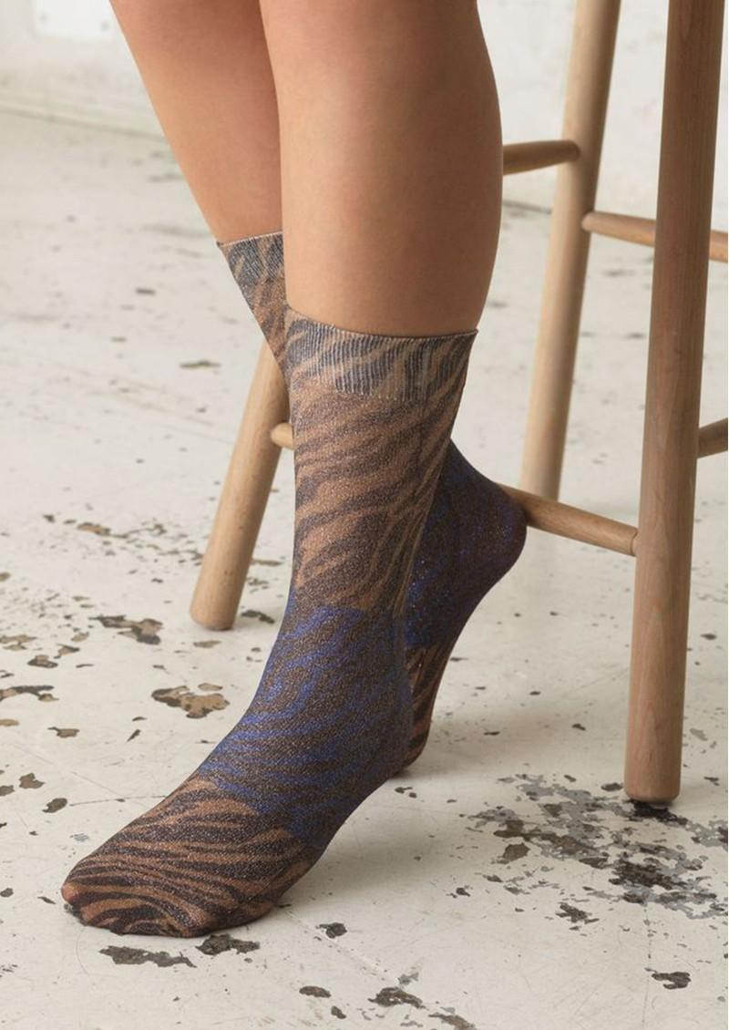 Becksondergaard Dagmar Zebra Socks - Brownish main image