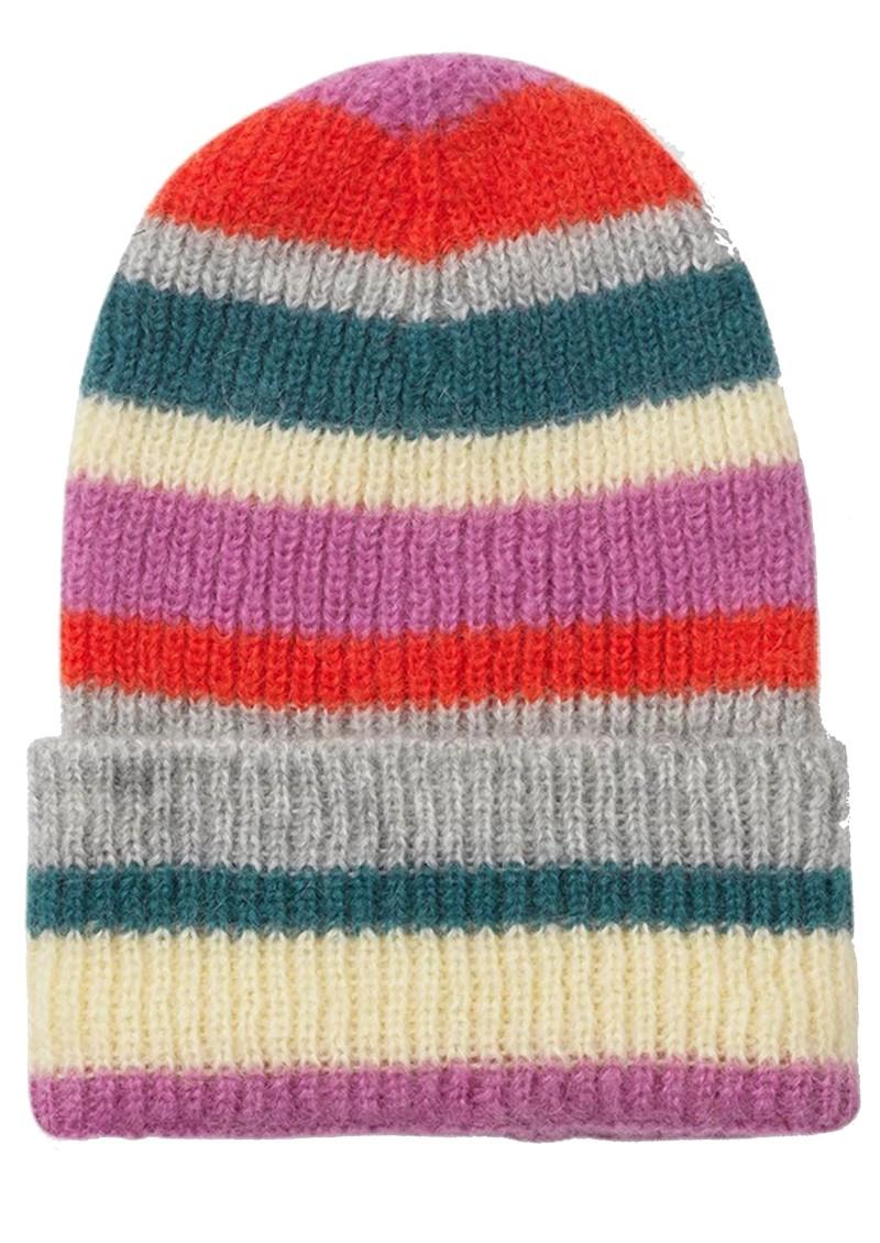 Becksondergaard Jadia Lovely Stripes Knitted Hat - Petrol main image