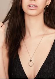 RACHEL JACKSON Full Moon Panther Necklace - Gold & Black