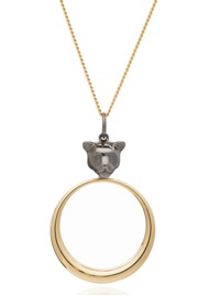 RACHEL JACKSON Full Moon Panther Necklace - Gold & Black