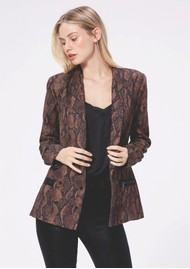 Paige Denim Karissa Blazer - Brown Snake