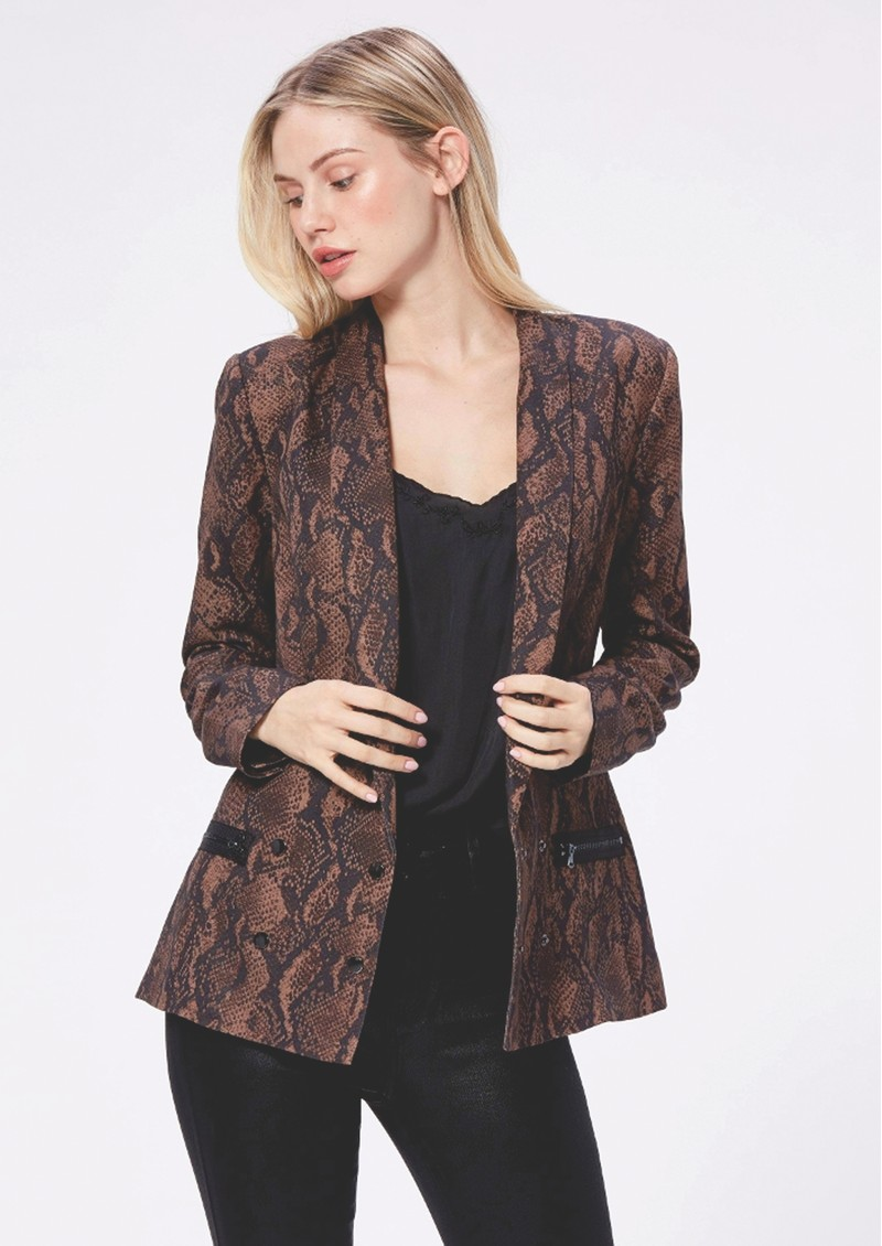 Paige Denim Karissa Blazer - Brown Snake main image