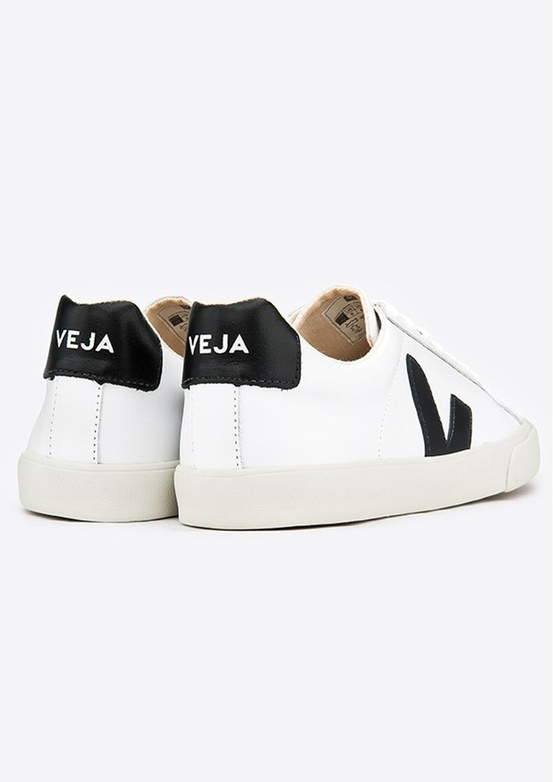 VEJA Espar Logo Leather Trainers - Extra White & Black main image