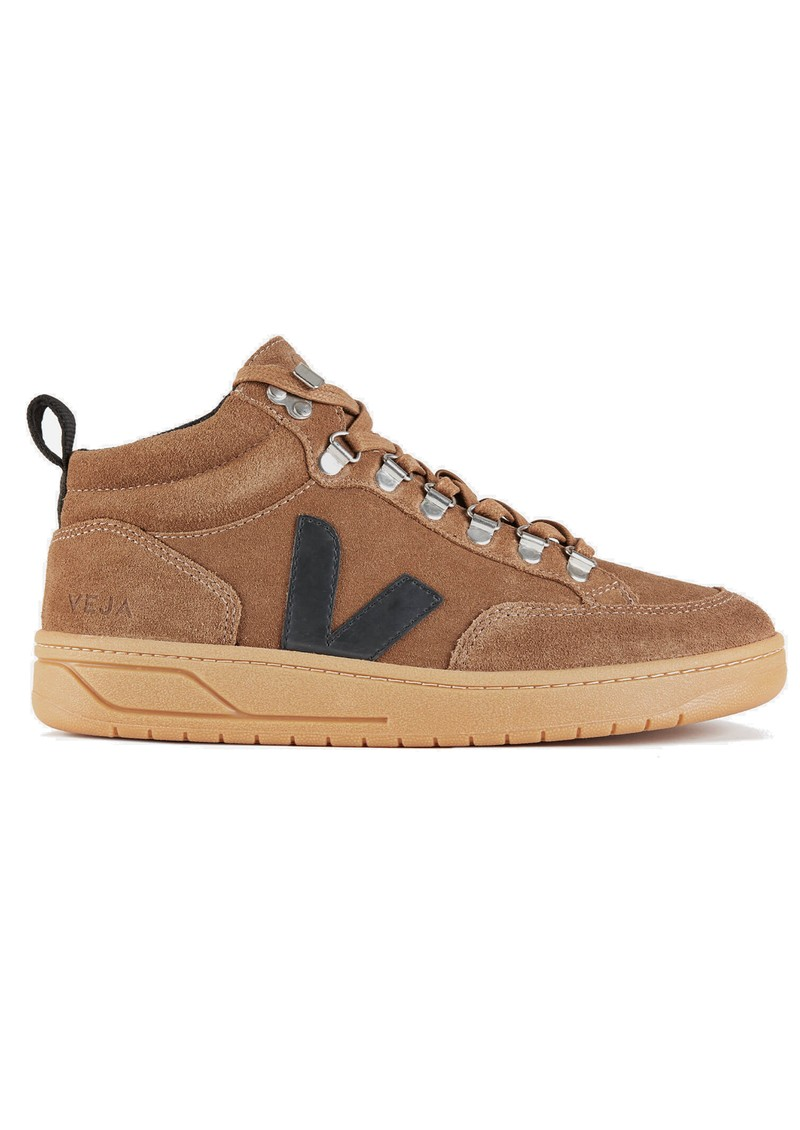 VEJA Roraima Suede Trainers - Brown, Black & Natural main image