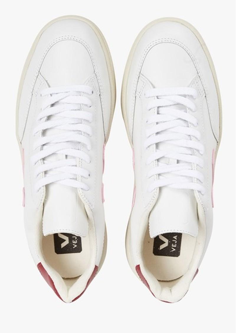 VEJA V-12 Leather Trainers - Extra White, Guimauve & Marsala main image