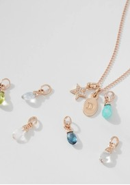 KIRSTIN ASH BespokeTopaz Gemstone Charm - Silver