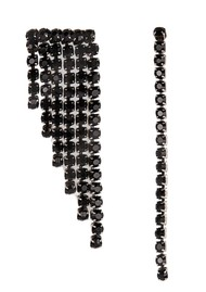 ESSENTIEL ANTWERP Valilia Rhinestone Earrings - Black