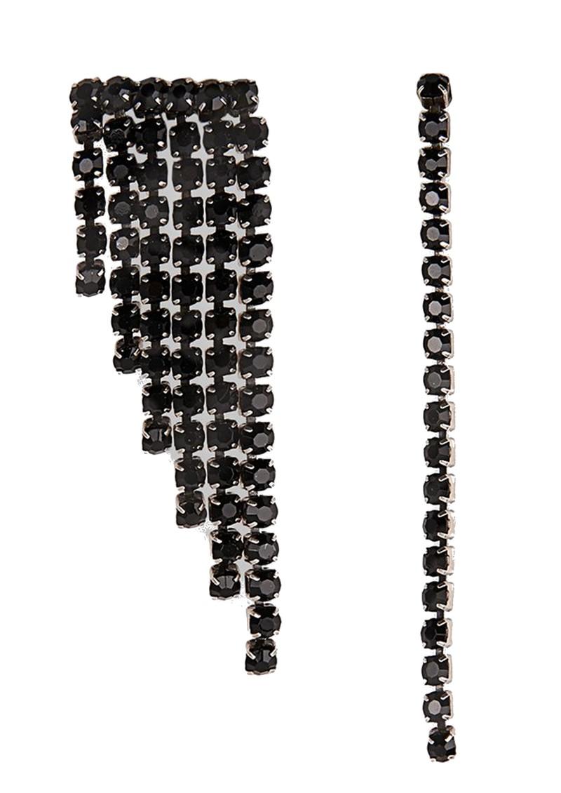 ESSENTIEL ANTWERP Valilia Rhinestone Earrings - Black main image