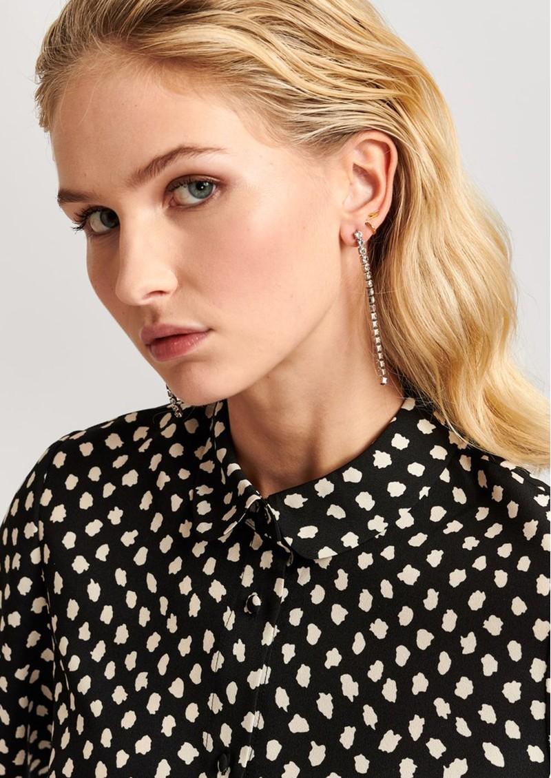 ESSENTIEL ANTWERP Valilia Rhinestone Earrings - Silver main image