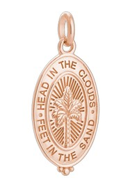 KIRSTIN ASH Bespoke Palm Coin Charm - Rose Gold