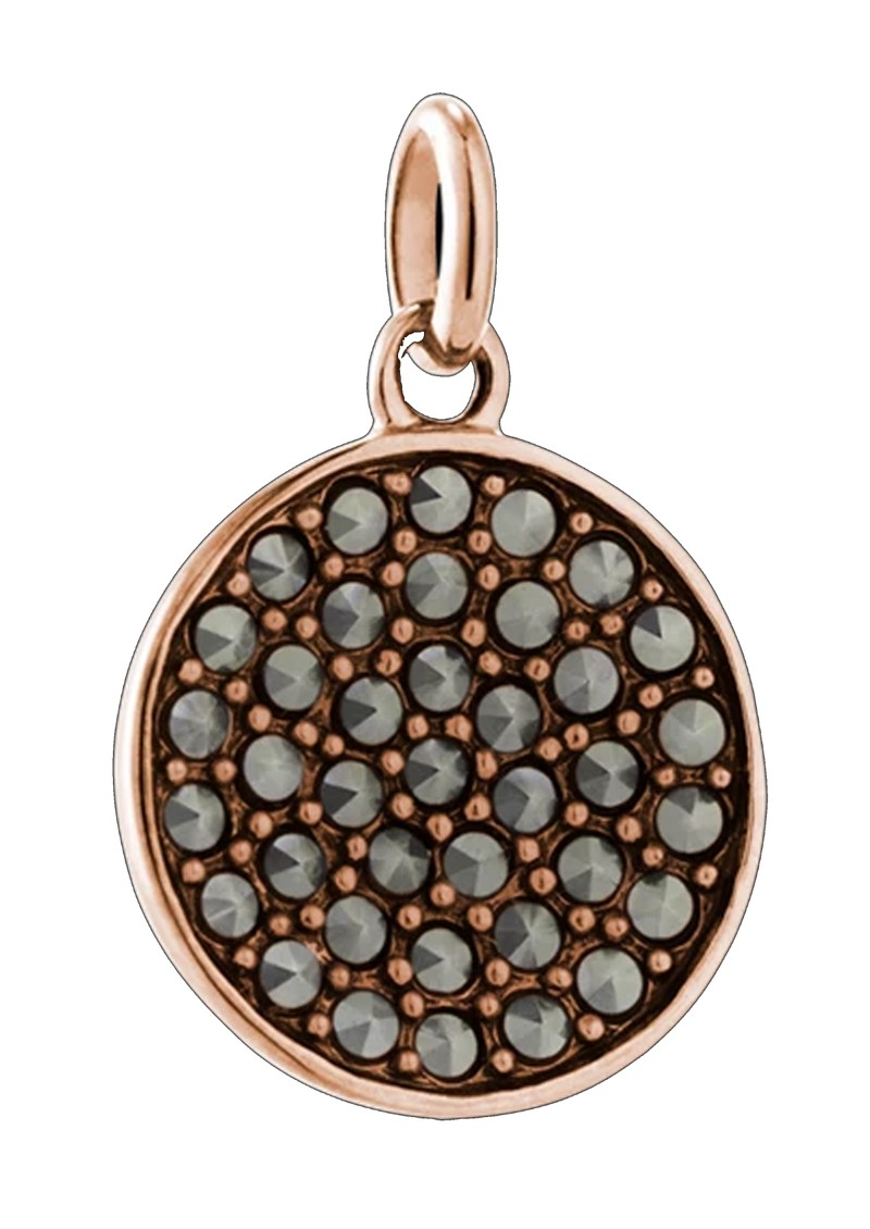 Bespoke Gem Circle Marcasite Charm - Rose Gold main image