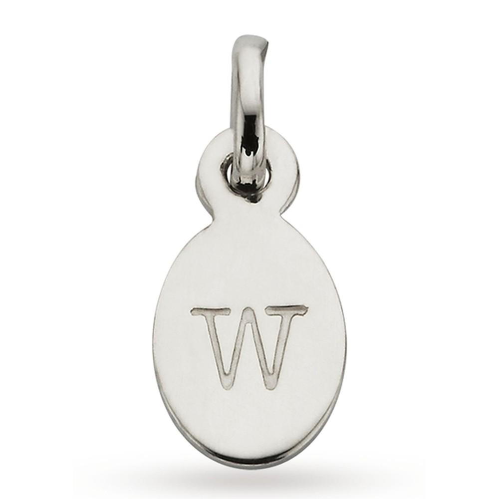 Bespoke Alphabet 'W' Charm - Silver