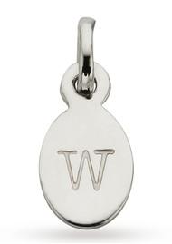 KIRSTIN ASH Bespoke Alphabet 'W' Charm - Silver