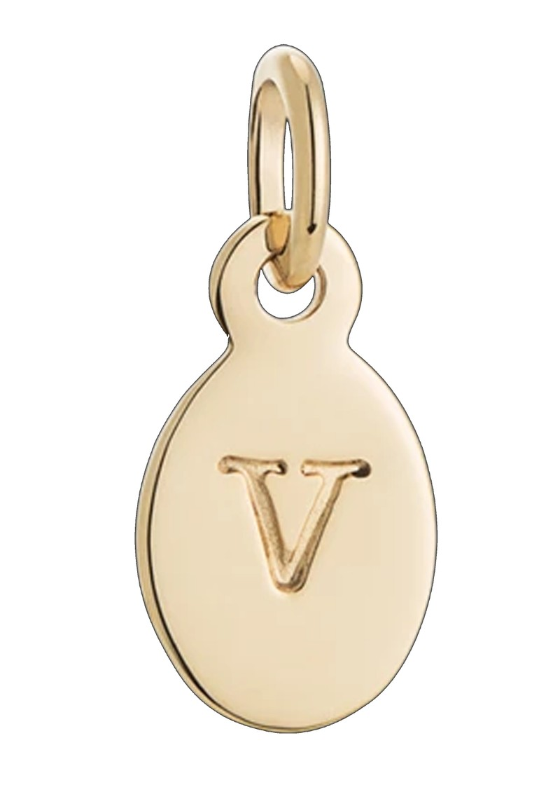 KIRSTIN ASH Bespoke Alphabet 'V' Charm - Gold main image