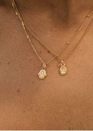 KIRSTIN ASH Bespoke Alphabet 'V' Charm - Gold