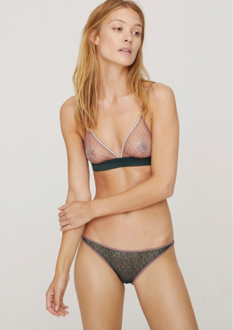 LOVE STORIES Shelby Lace Brief - Moss  main image