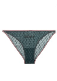 LOVE STORIES Shelby Lace Brief - Moss