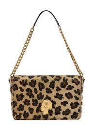 Sous Les Paves Gin Fizz Shoulder Bag - Leopard & Gold