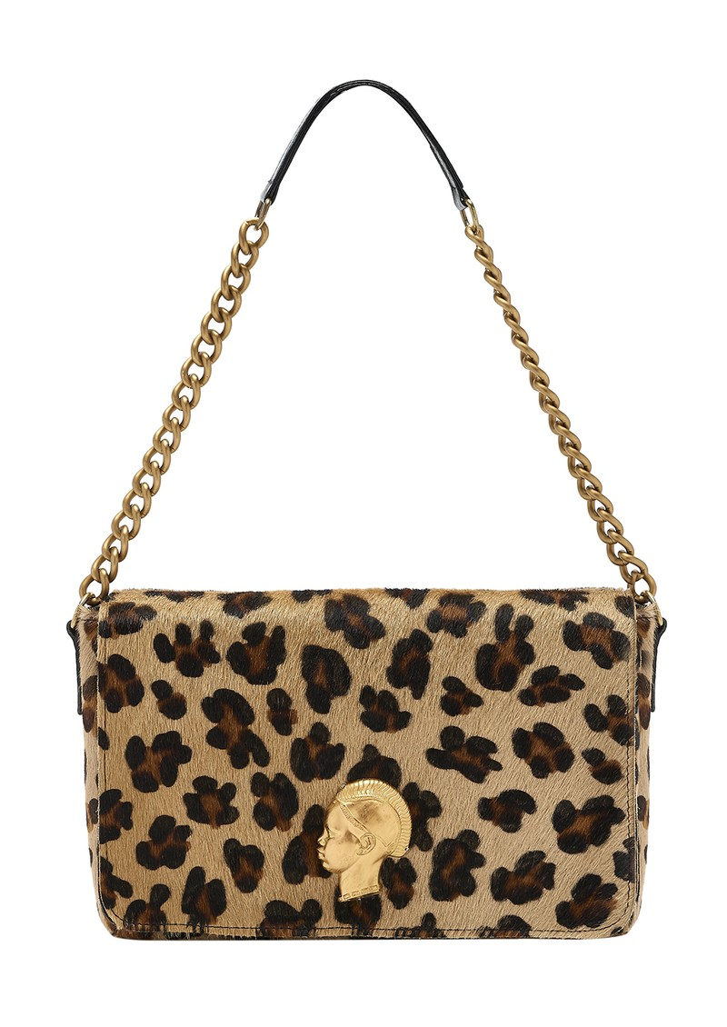 Sous Les Paves Gin Fizz Shoulder Bag - Leopard & Gold main image