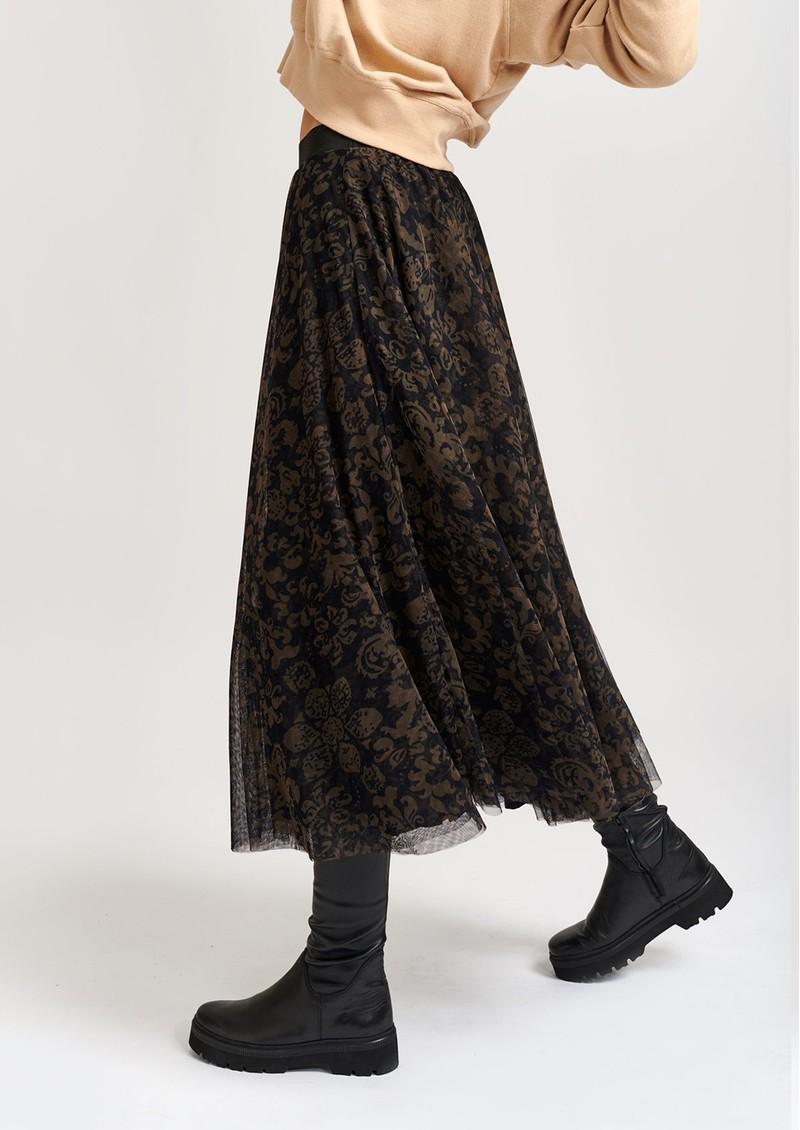 ESSENTIEL ANTWERP Vroom Vroom Tulle Midi Skirt - Combo 1 Moss main image