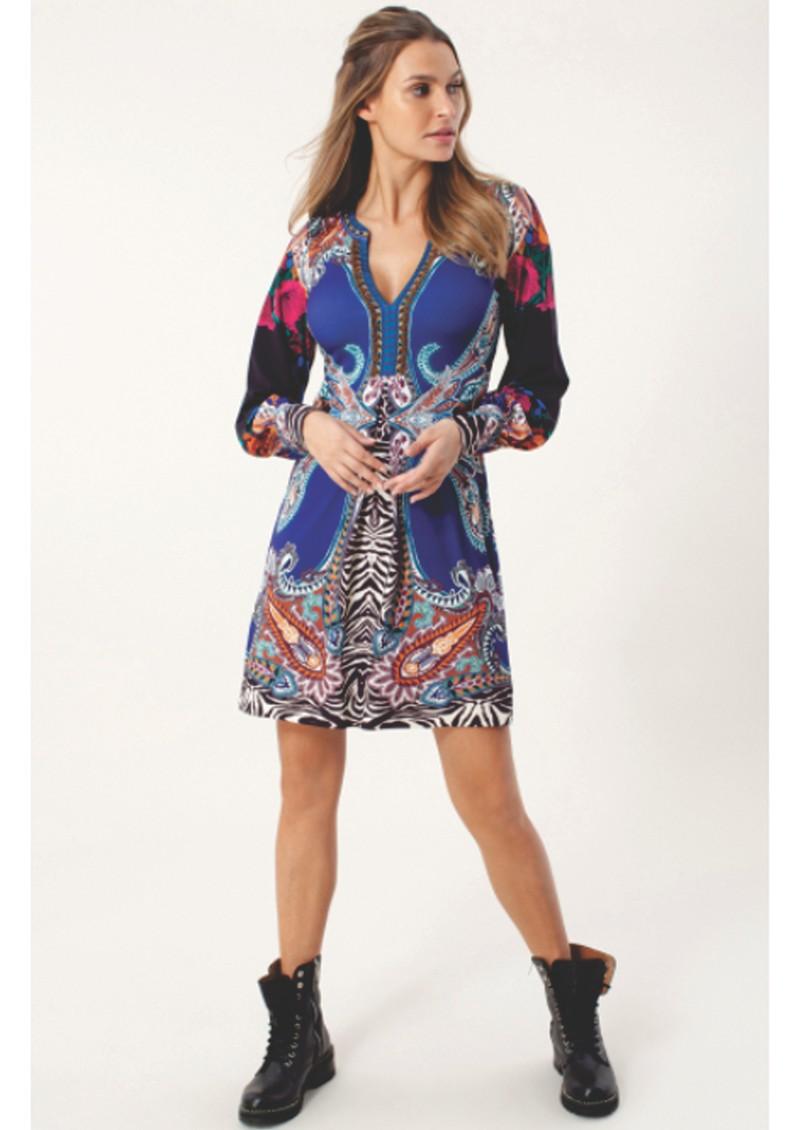 Hale Bob Precious Beaded Dress - Blue main image