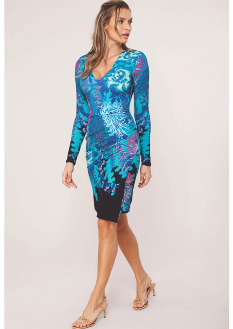 Hale Bob Jimena Jersey Dress - Teal  main image