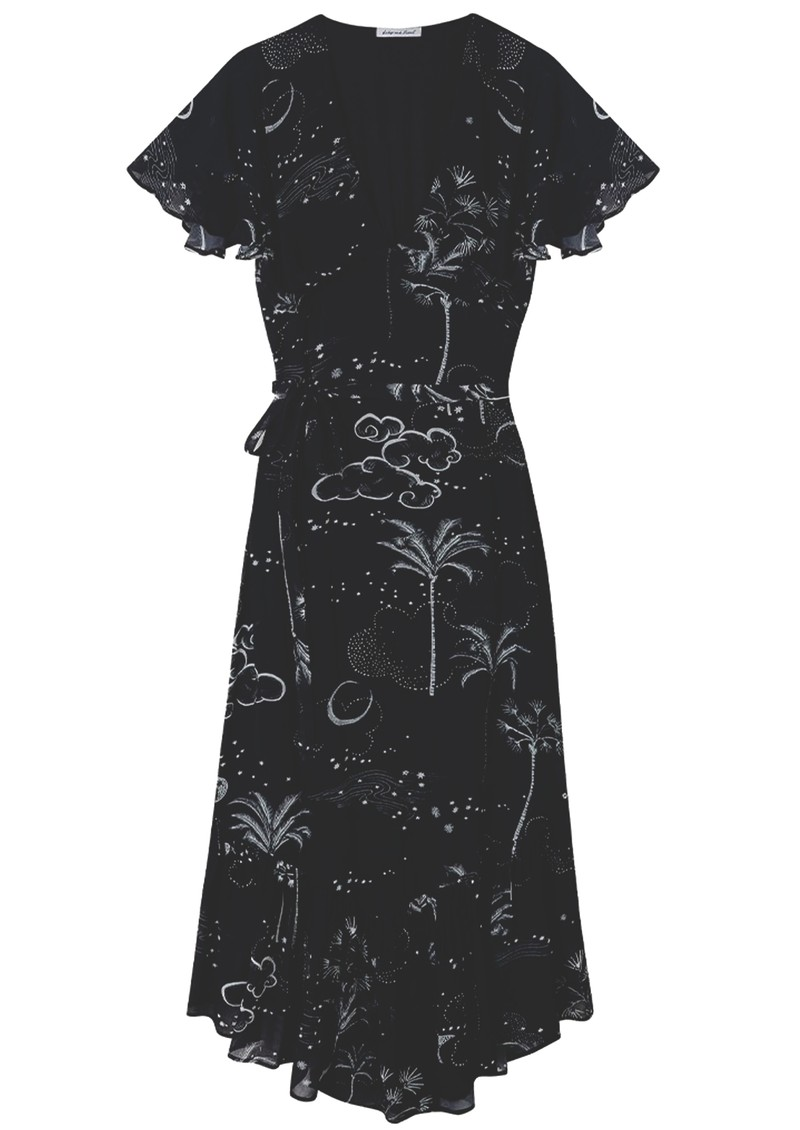 Lily and Lionel Drew Dress - Mystic Palm main image