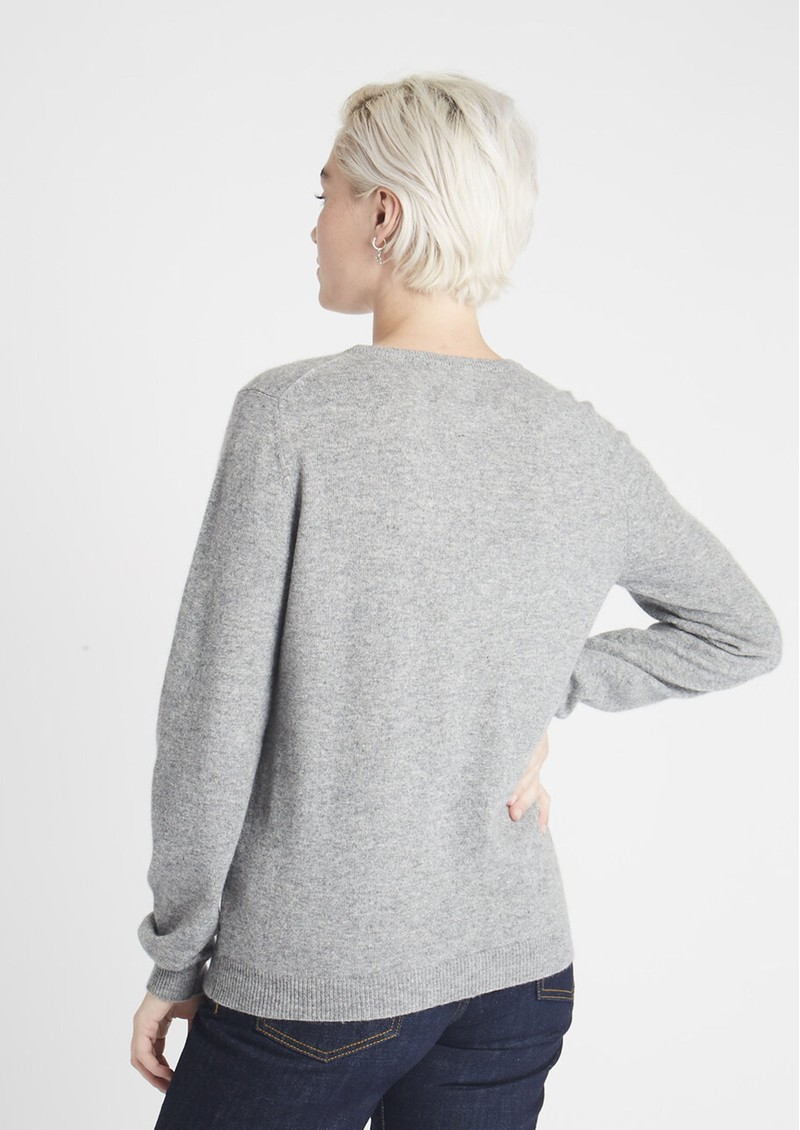 JUMPER 1234 Awesome Cashmere Crew Jumper - Mid Grey main image