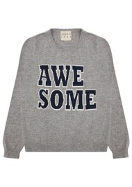 JUMPER 1234 Awesome Cashmere Crew Jumper - Mid Grey