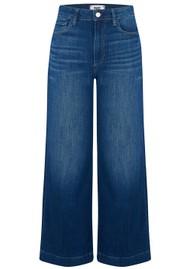Paige Denim Anessa Cropped Wide Leg Jeans - Big Bear