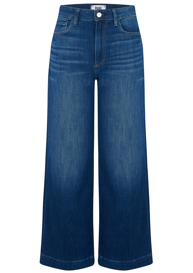 Paige Denim Anessa Cropped Wide Leg Jeans - Big Bear main image
