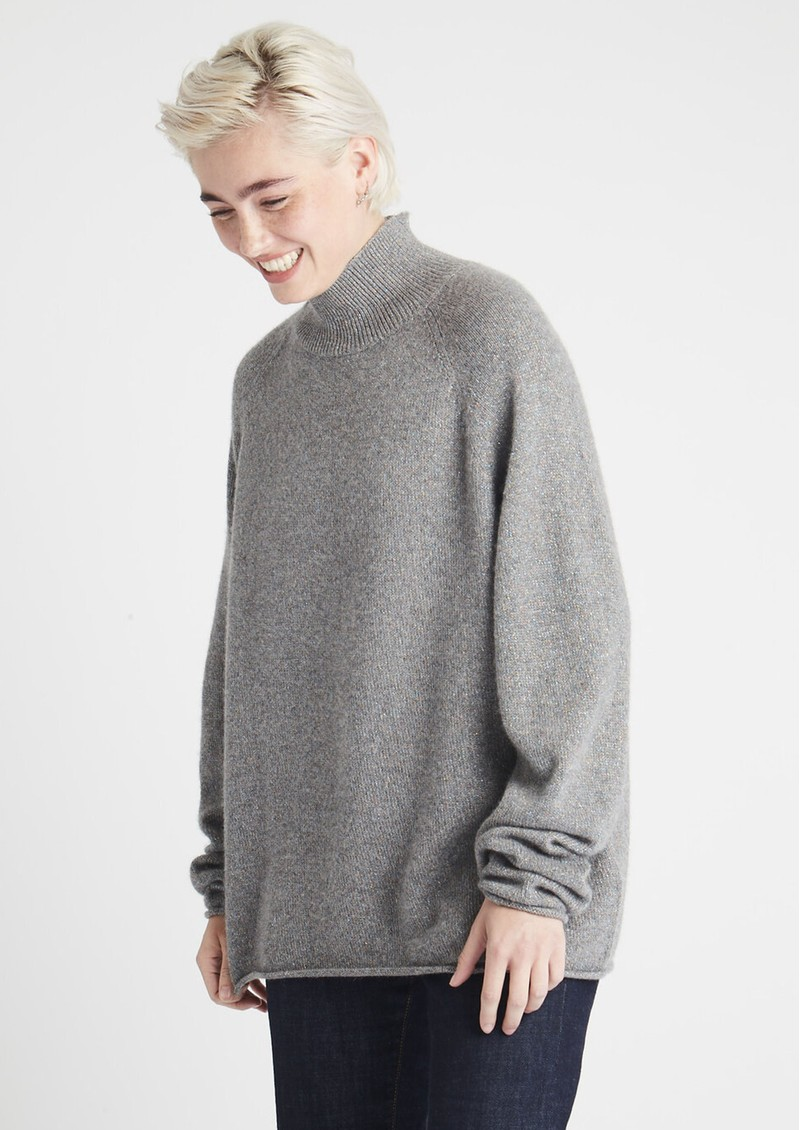 JUMPER 1234 Lurex Winter Cashmere Jumper - Mid Grey main image