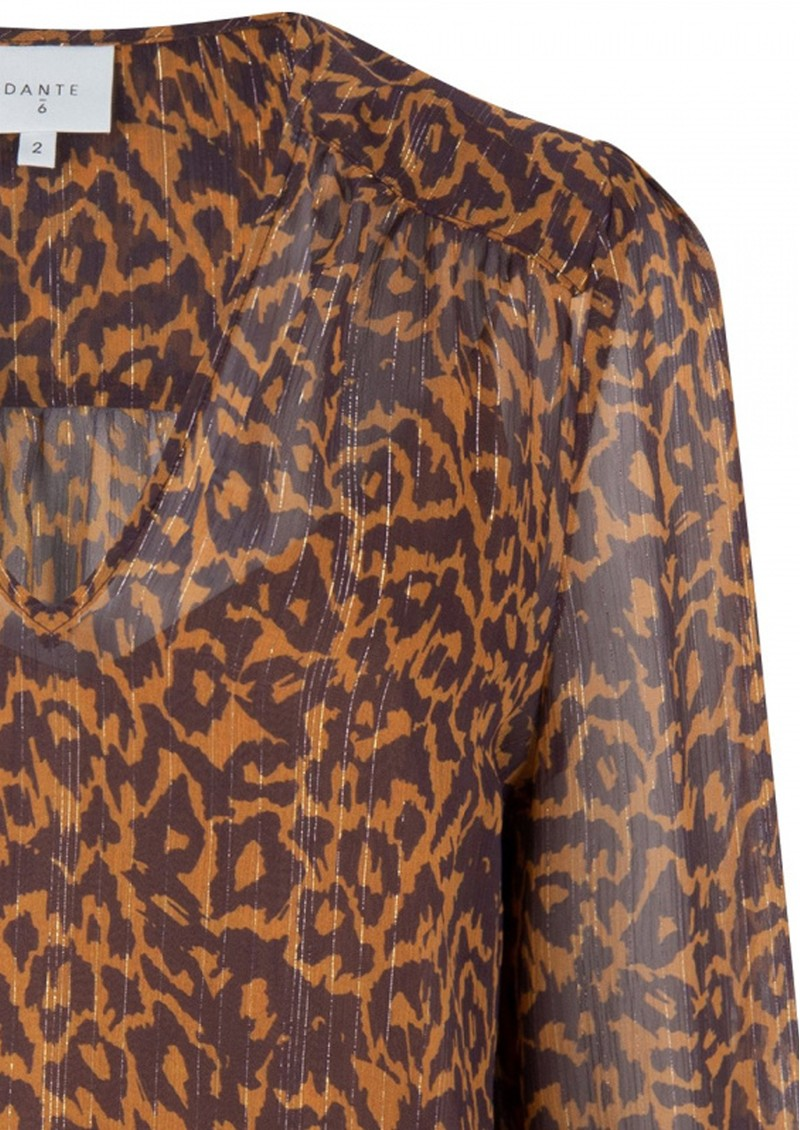 Sally Blouse - Leopard main image