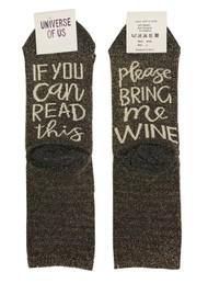 UNIVERSE OF US Sparkle Socks - Wine