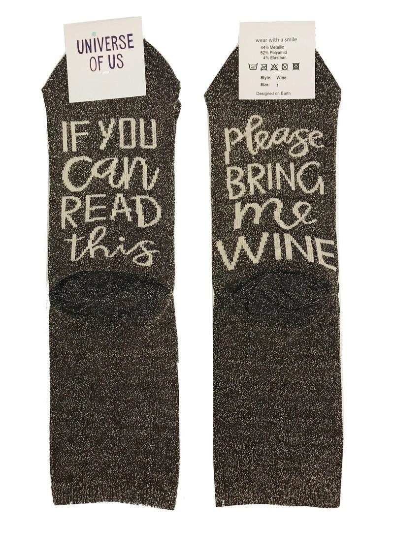 UNIVERSE OF US Sparkle Socks - Wine main image