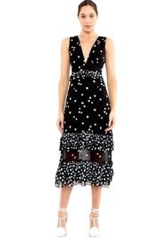 TALULAH Love Shack Midi Dress - Black & White