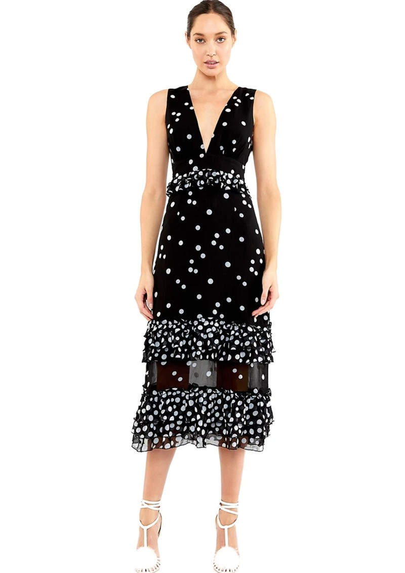 TALULAH Love Shack Midi Dress - Black & White main image