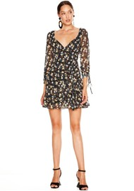 TALULAH Tahiti Night Short Dress - Tahiti Floral