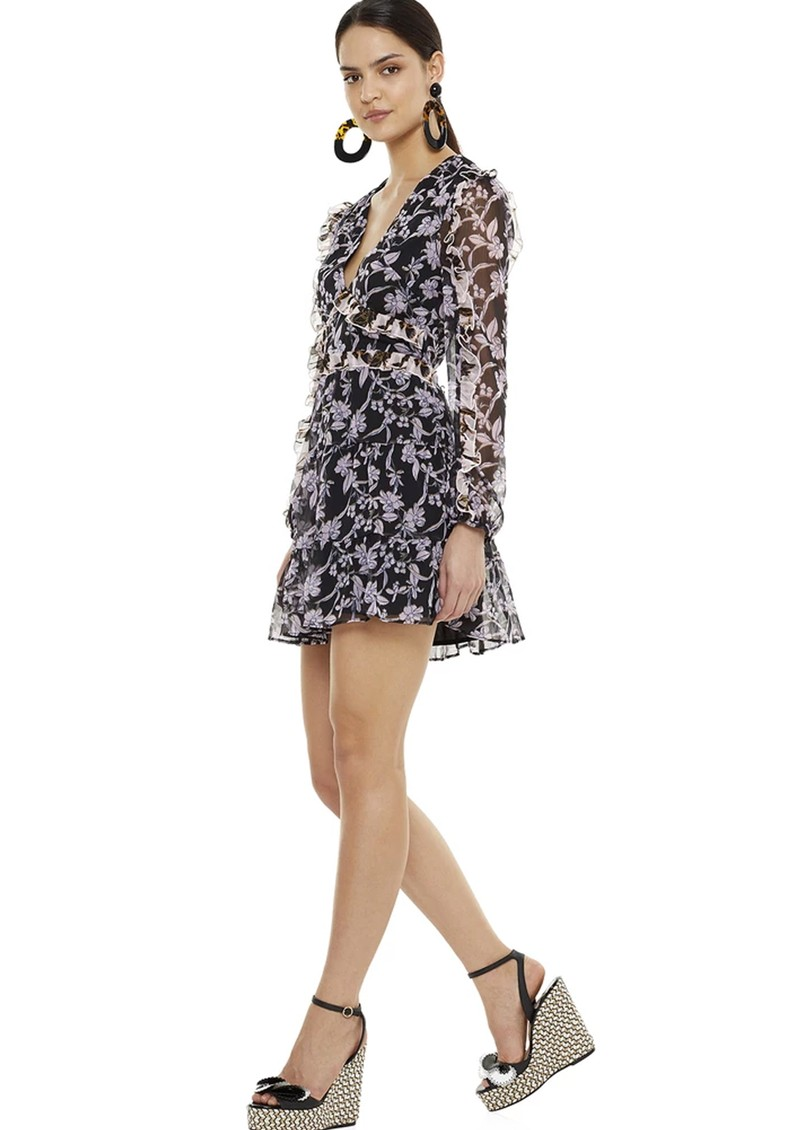 TALULAH Blooming Long Sleeve Mini Dress - Patchwork main image