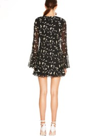 TALULAH Night Spark Mini Dress - Black Embroidery