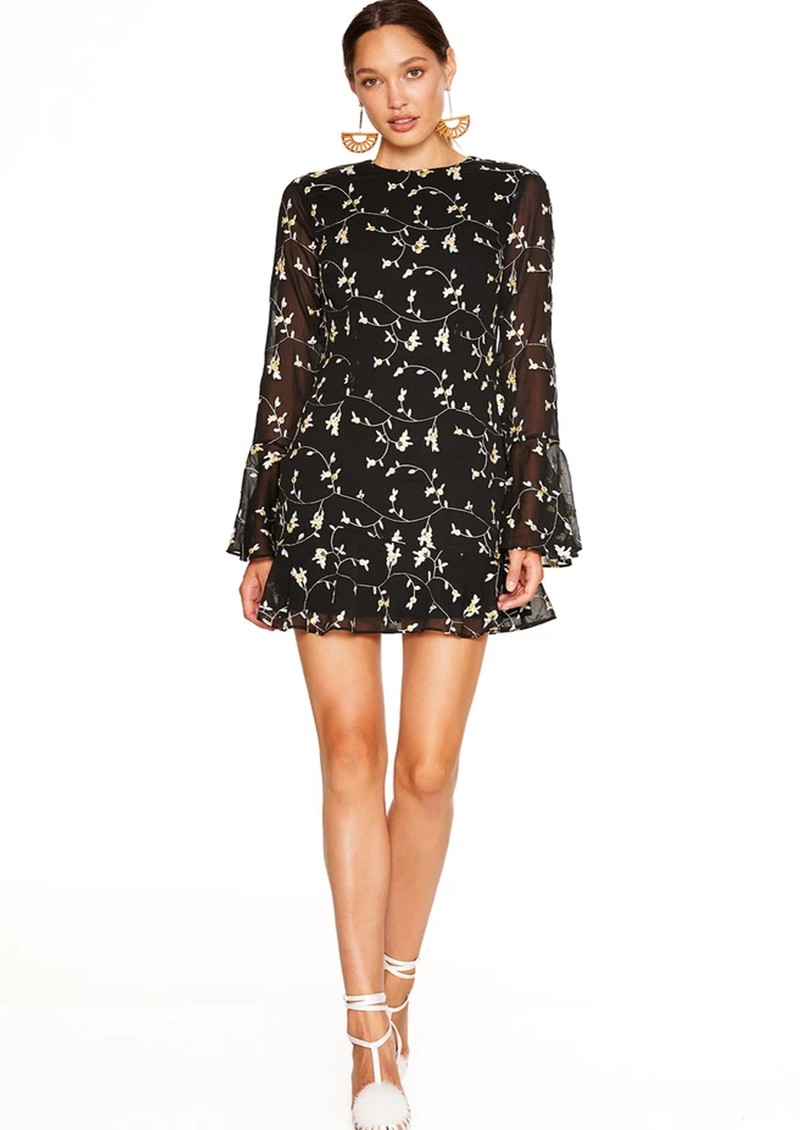 TALULAH Night Spark Mini Dress - Black Embroidery main image