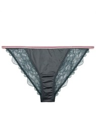 LOVE STORIES Wild Rose Lace Brief - Moss