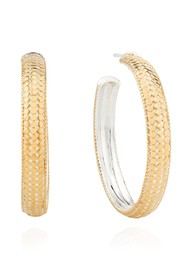 ANNA BECK Medium Dome Hoop Earrings - Gold