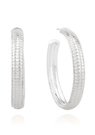 ANNA BECK Medium Dome Hoop Earrings - Silver