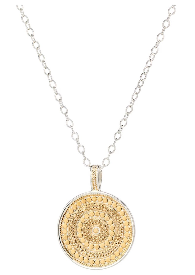 ANNA BECK Large Beaded Reversible Disc Necklace - Gold & Silver main image