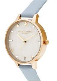 Olivia Burton Celestial Demi Dial Watch - Chalk Blue & Pale Gold