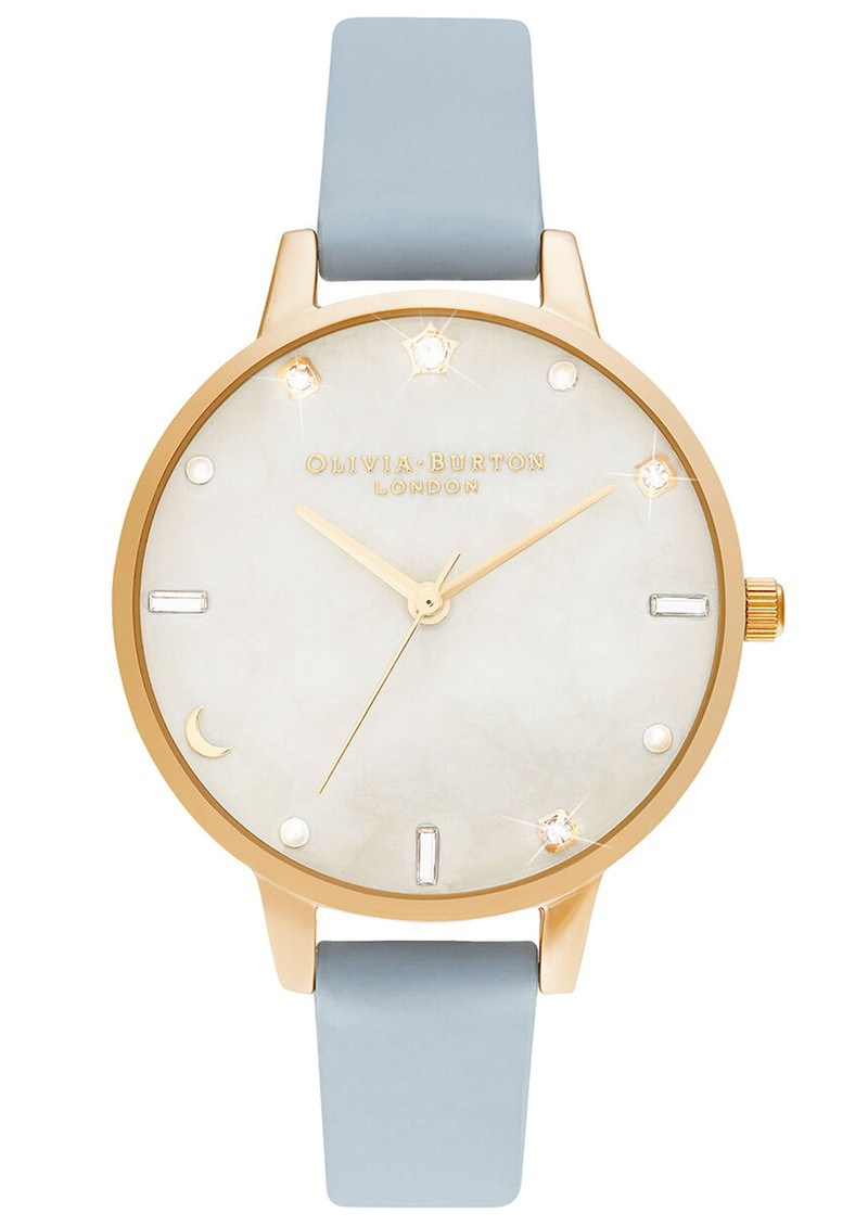 Olivia Burton Celestial Demi Dial Watch - Chalk Blue & Pale Gold main image
